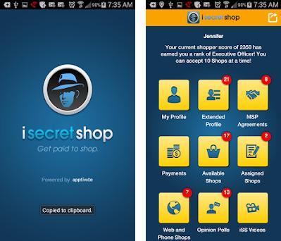 iSecretShop - Mystery Shopping preview screenshot