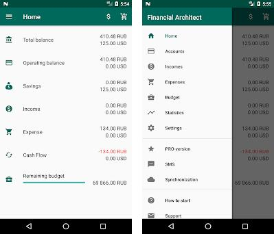 Financial Architect - income and expense tracker preview screenshot