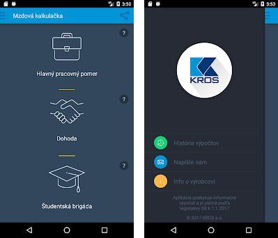 KROS Mzdová kalkulačka preview screenshot