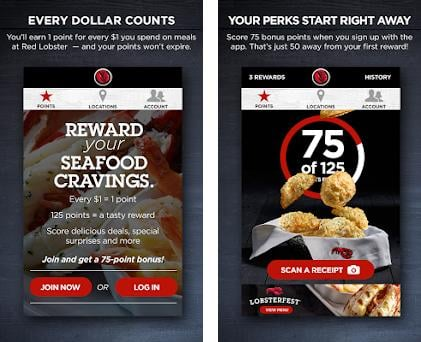 My Red Lobster Rewards℠ preview screenshot