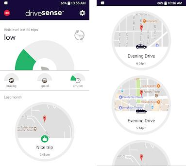 drivesense mobile by esurance preview screenshot