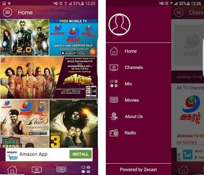 Tamil TV Channels - Akaram TV APK App - Free Download for