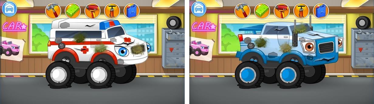 Repair machines - monster trucks preview screenshot