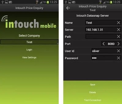 Intouch Price Enquiry preview screenshot