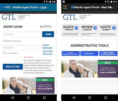 GTL E-App preview screenshot