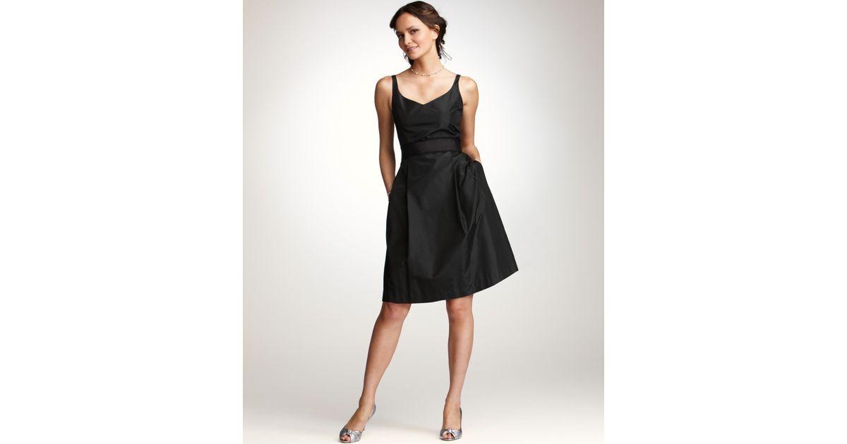 Ann taylor Silk Taffeta Vneck Bridesmaid Dress in Black