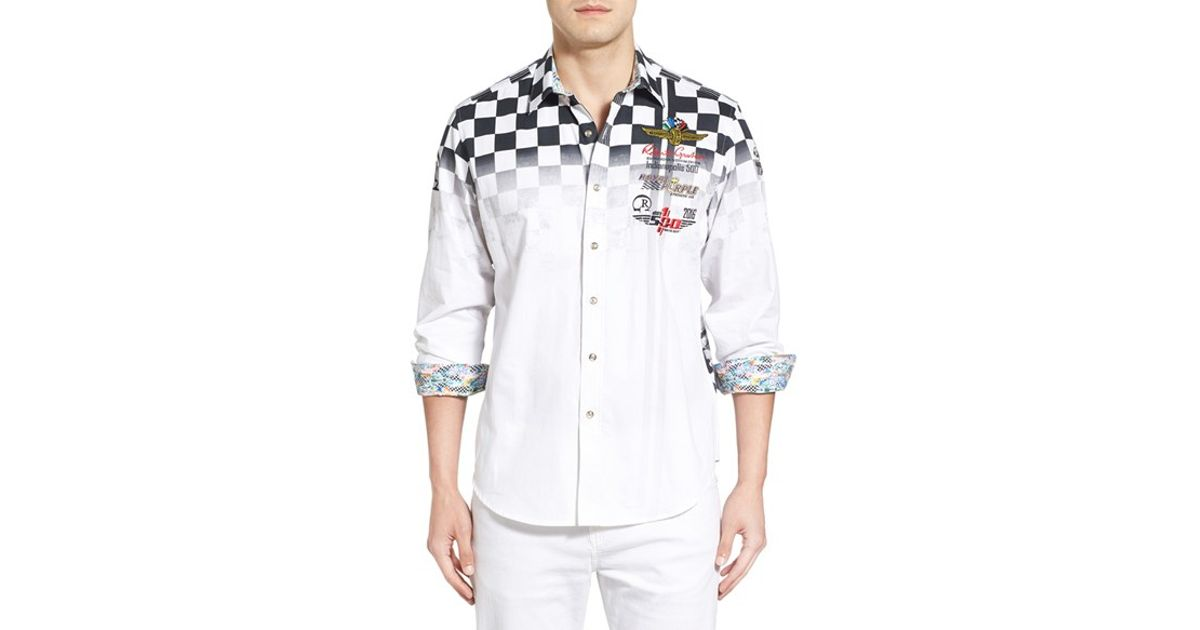 Robert graham 'indy 500' Classic Fit Embroidered Print