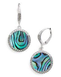 Judith jack Abalone Drop Earrings - Abalone/ Silver in ...