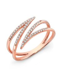 Anne sisteron 14kt Rose Gold Diamond Spike Wrap Ring in ...