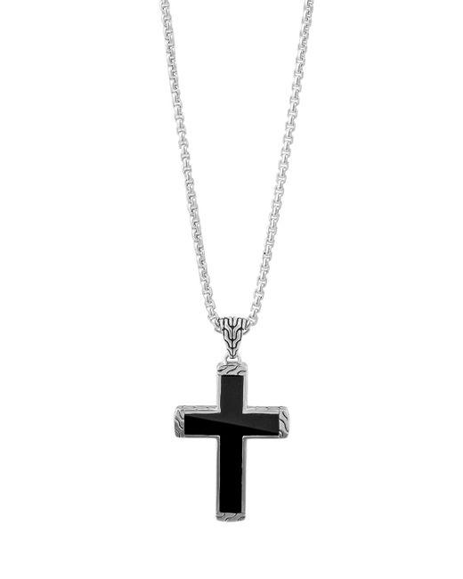 John hardy Men's Classic Chain Black Jade Cross Pendant