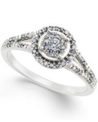 No vendor Diamond Promise Ring In 10k White Gold ( 1/4 Ct ...