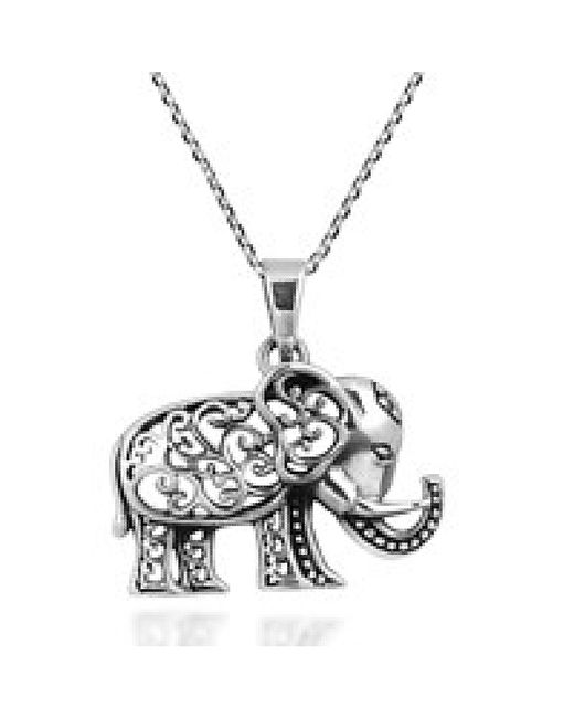 Aeravida Royal Thai Swirl Elephant .925 Sterling Silver