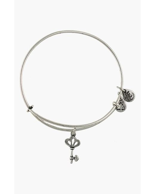 Alex and ani Skeleton Key Expandable Wire Bangle in