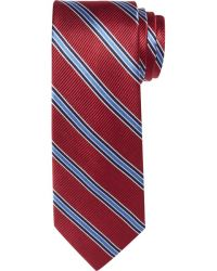 Jos. a. bank Executive Collection Stripe Tie in Red for ...