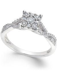 Macy's Princess-cut Diamond Promise Ring (1/4-ct. T.w.) In ...