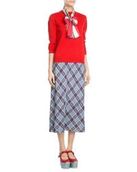 Marc jacobs Silk Football Scarf - Multicolor in Red - Save ...