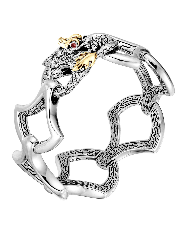 John hardy Naga Gold & Silver Large Link Bracelet in