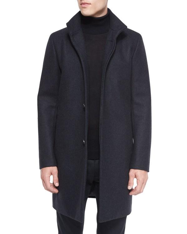 Wool Blend Car Coat