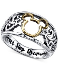 Lyst - Disney Open Work Mickey Mouse Ring In Sterling ...