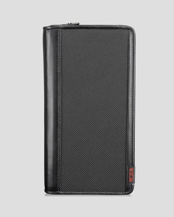 Tumi Alpha Zip Travel Wallet In Black Men Lyst