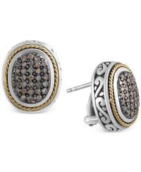 Effy collection Effy Balissima Brown Diamond Oval Earrings ...