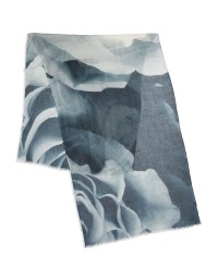 Yarnz Silk And Cashmere Scarf in White - Lyst