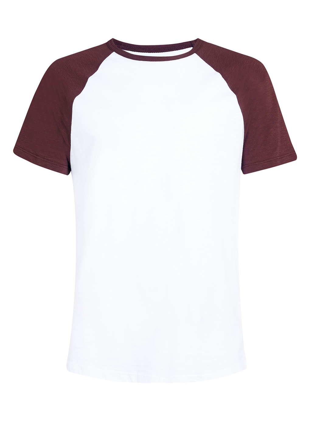 Lyst  TOPMAN White And Burgundy Ringer Tshirt in White for Men