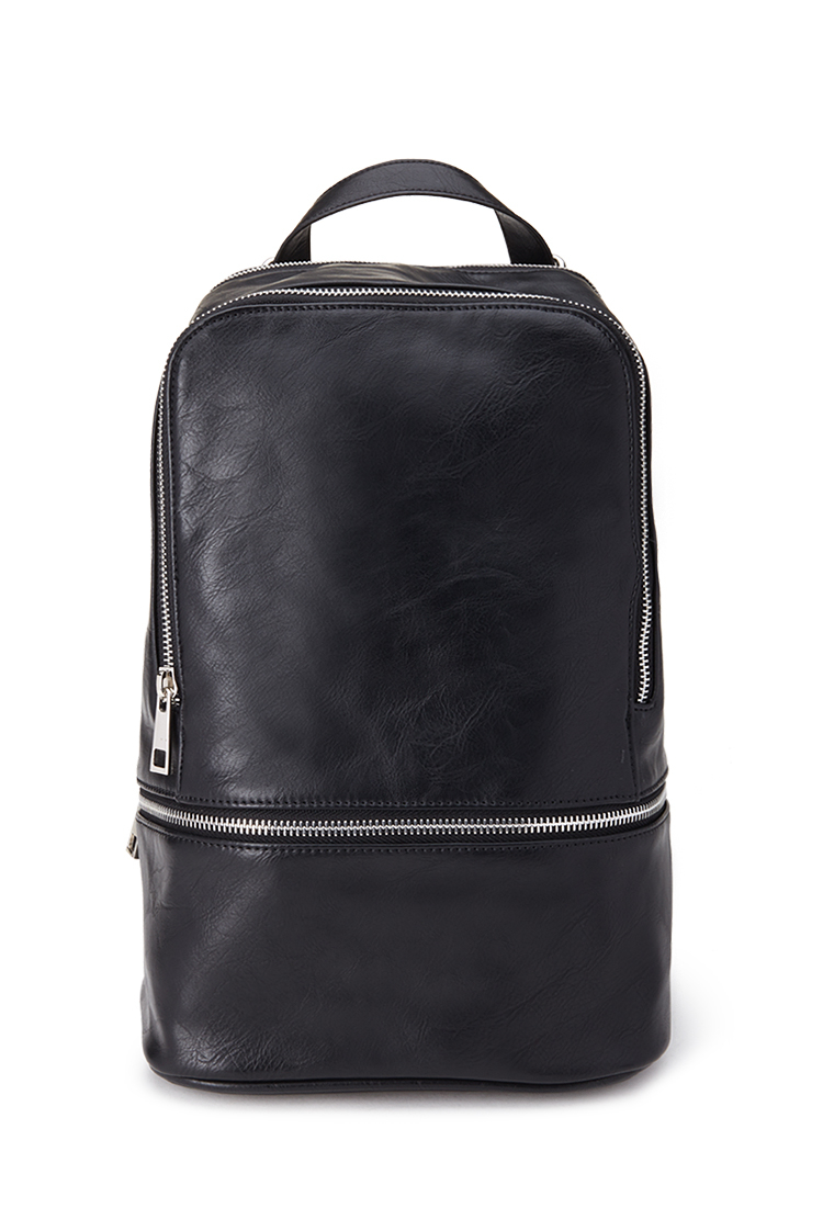 Lyst  Forever 21 Mini Faux Leather Backpack in Black