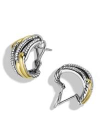 David yurman Labyrinth Double-loop Earrings With Diamonds ...