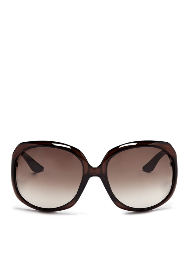 Lyst - Dior Oversized Square Acetate Sunglasses In Brown
