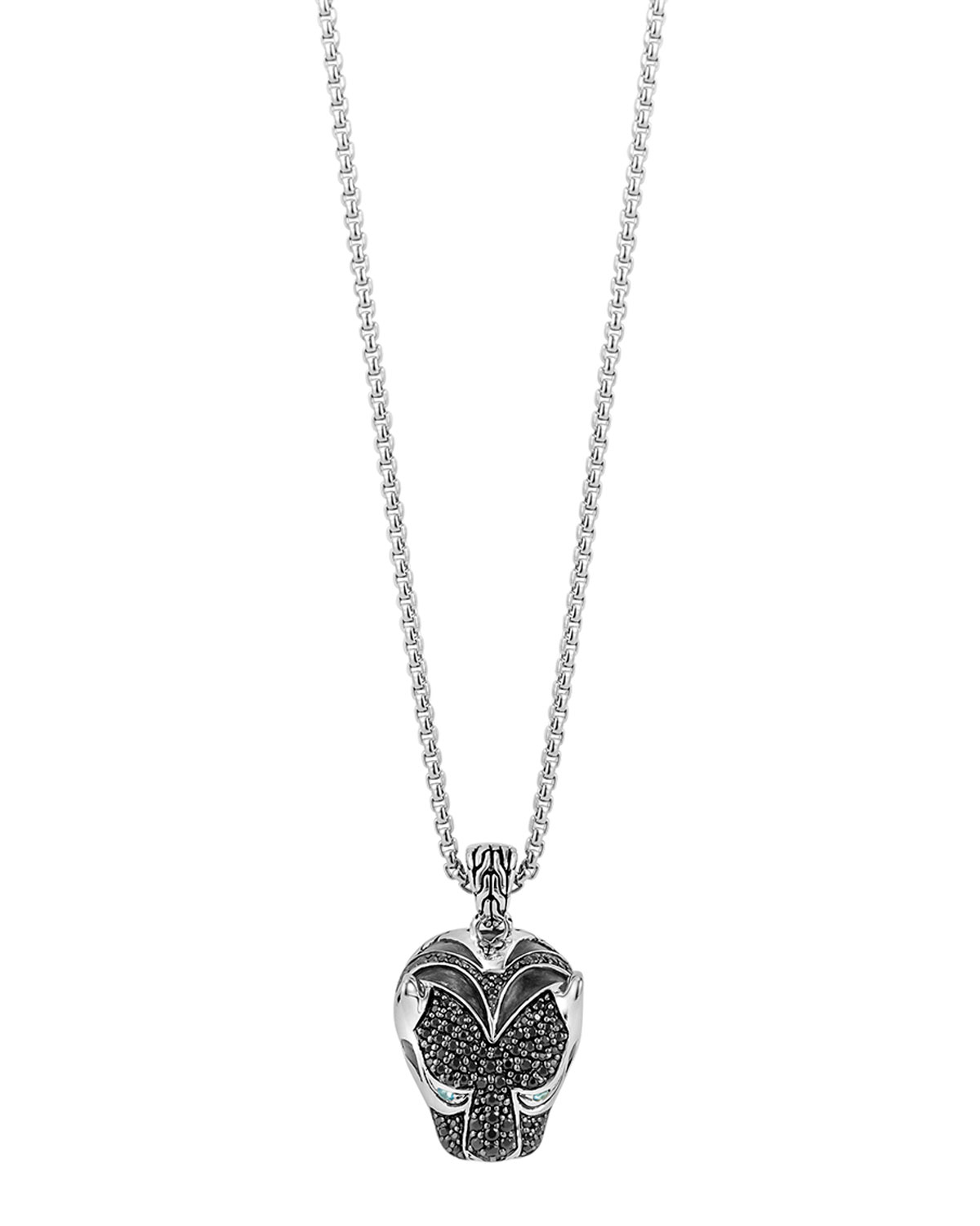 John hardy Classic Chain Macan Lava Pendant Necklace in