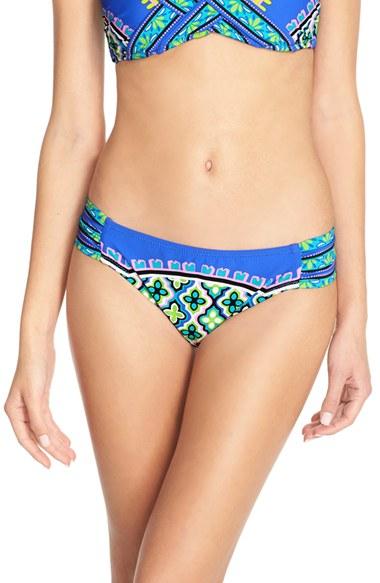 Trina Turk Shangri La Shirred Side Hipster Bikini