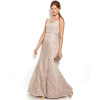 Lyst - Js Collections Sleeveless Floral Lace Mermaid Gown ...