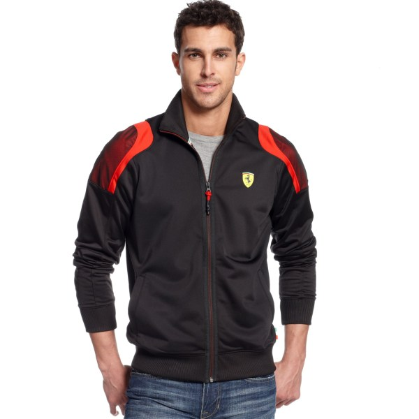 Puma Scuderia Ferrari Track Jacket In Black Men Lyst