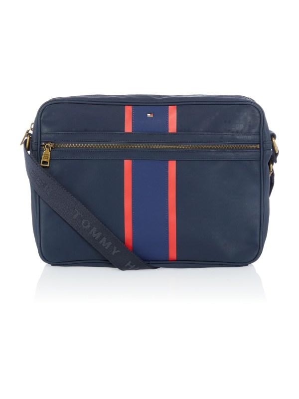 Tommy Hilfiger Block Stripe Ridley Messenger Bag In Blue