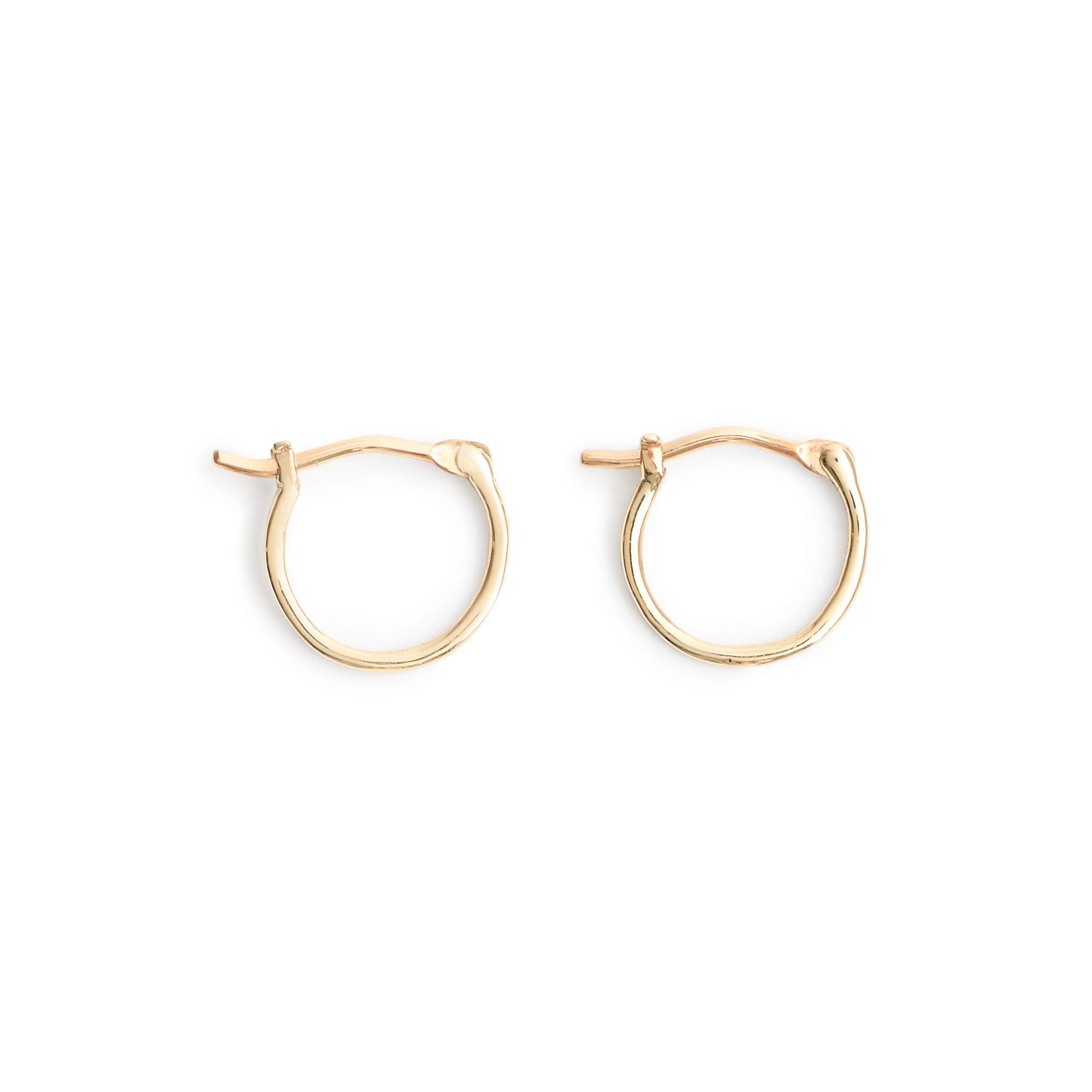 J.crew 14k Gold Small Hoop Earrings in Gold