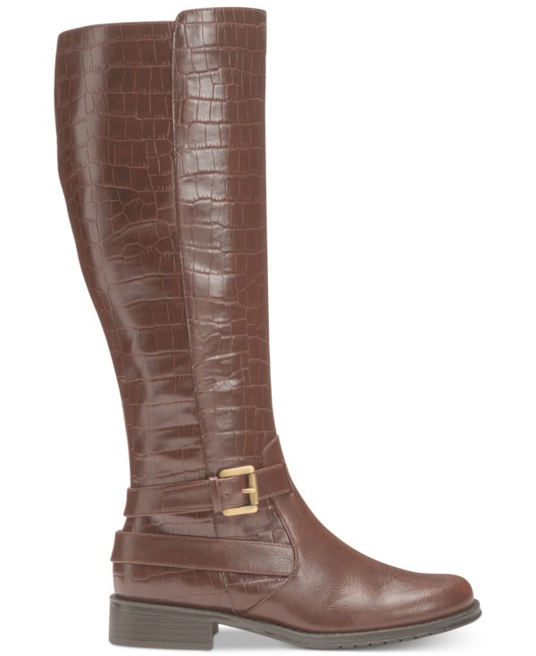 Aerosoles With Pride Tall Boots In Brown Croco Lyst