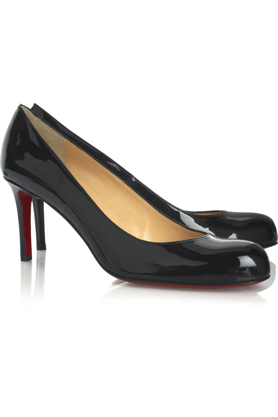 Christian louboutin Simple Patent Leather Pumps in Black