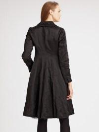 Lyst - Eileen Fisher Steel Satin Shawl Collar Coat in Black