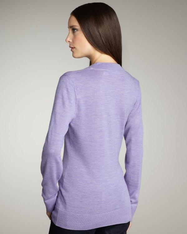 Lyst - Tory Burch Simone Cardigan Lavender In Purple