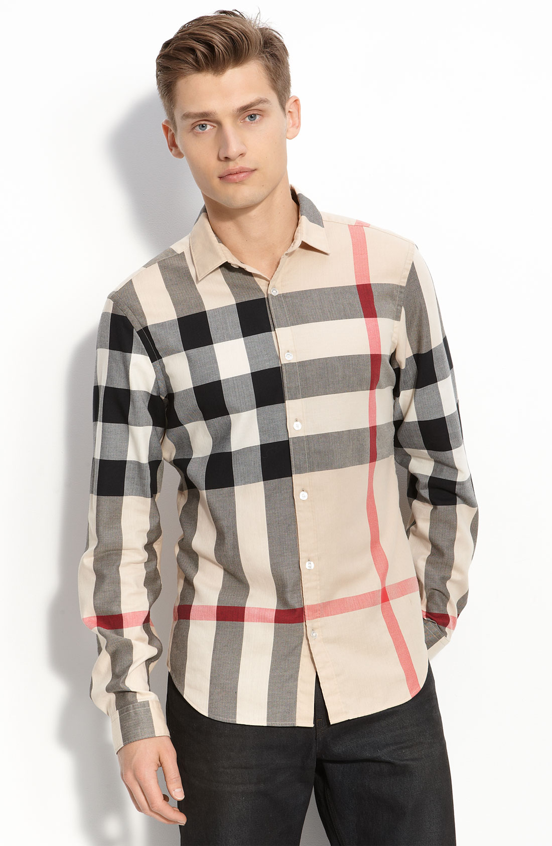 Burberry Brit Check Woven Shirt in Multicolor for Men (trench/ new classic) | Lyst