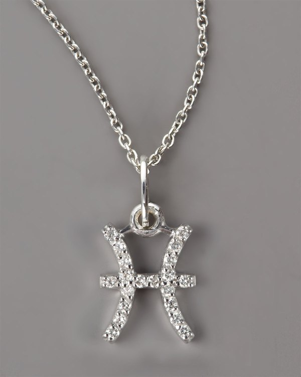 Kc Design Pisces Diamond Necklace In Silver Lyst