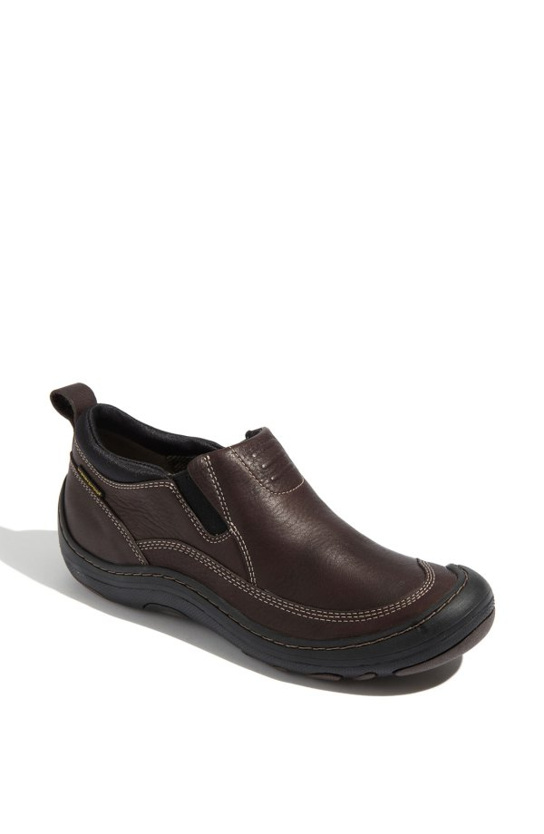 Clarks Privo Thomke Ankle Boot In Brown Leather