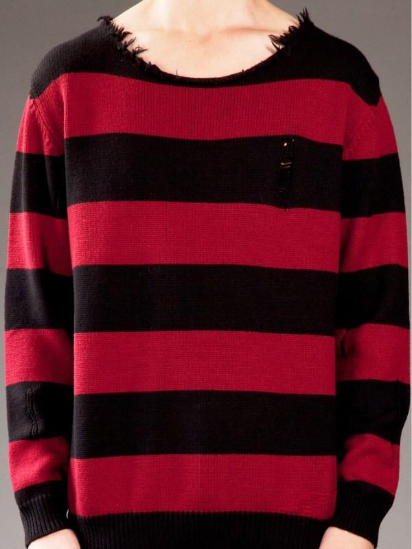 Dead Meat Striped Sweater In Red Men Black Lyst