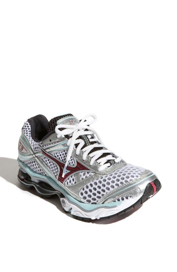 Mizuno Wave Creation 13 Running Shoe In Gray Grey Silver