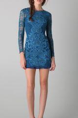 Matthew Williamson Long Sleeve Lace Dress