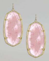 Kendra Scott Danielle Earrings in Gold (light pink) | Lyst