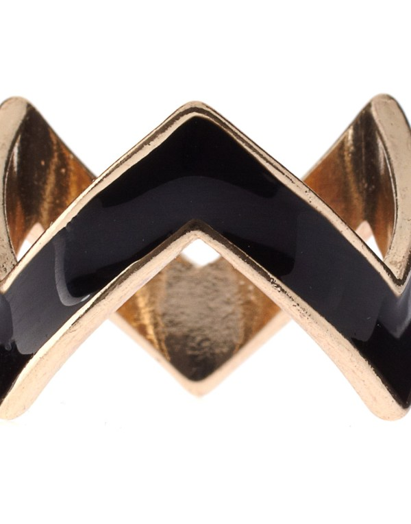 Asos Collection Pack Of Six Enamel Zig Zag Rings - Lyst