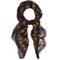 Lyst - Alexander Mcqueen Skull Print Scarf in Purple for Men