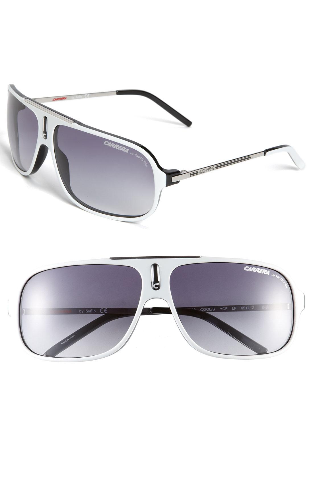 Carrera Eyewear Cool Aviator Sunglasses in White for Men ...
